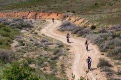 Competencia del andventure de la bici de montaña Imagen de archivo