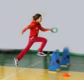 Competencia del atletismo de los niños Foto de archivo libre de regalías