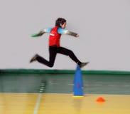 Competencia del atletismo de los niños Fotografía de archivo libre de regalías