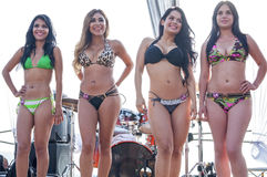 Competencia del bikini foto de archivo libre de regalías