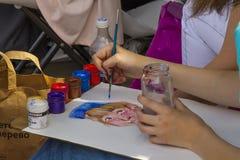 Competencia del dibujo de los niños Fotografía de archivo