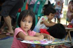 Competencia del dibujo para los niños Foto de archivo