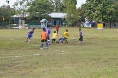 Competencia del fútbol Imagen de archivo