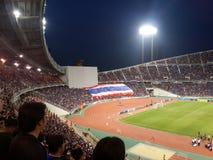 Competencia del fútbol en Tailandia Foto de archivo