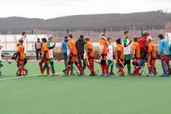 Competencia del hockey hierba de la juventud Imágenes de archivo libres de regalías