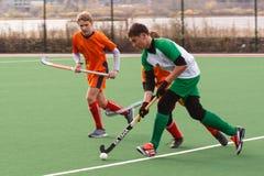 Competencia del hockey hierba de la juventud Fotos de archivo libres de regalías