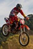 Competencia del motocrós Liga catalana de la raza del motocrós Fotografía de archivo
