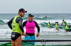 Competencia del rowing de la resaca Fotografía de archivo