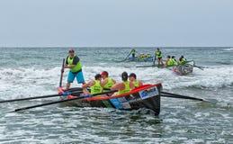 Competencia del rowing de la resaca Fotos de archivo