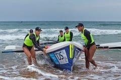 Competencia del rowing de la resaca Imágenes de archivo libres de regalías
