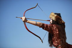Competencia del tiro al arco en Turquía Imágenes de archivo libres de regalías