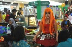 Competencia del traje del animado en Indonesia Foto de archivo libre de regalías
