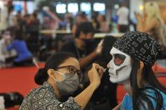 Competencia del traje del animado en Indonesia Imagen de archivo libre de regalías