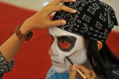 Competencia del traje del animado en Indonesia Imágenes de archivo libres de regalías