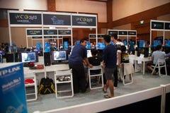 Competencia del videojuego en la demostración de juego de Indo 2013 Imagenes de archivo