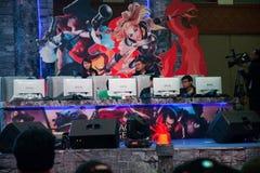 Competencia del videojuego en la demostración de juego de Indo 2013 Foto de archivo libre de regalías