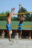 Competencia del voleibol de playa Foto de archivo libre de regalías