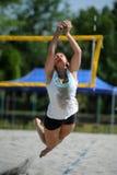 Competencia del voleibol de playa Imagen de archivo