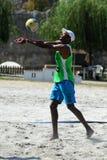 Competencia del voleibol de playa Imágenes de archivo libres de regalías