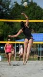 Competencia del voleibol de playa Foto de archivo