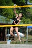 Competencia del voleibol de playa Fotografía de archivo libre de regalías