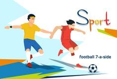 Competencia discapacitada de Play Football Sport del atleta Fotos de archivo libres de regalías