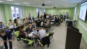 Competencia en la economía entre los equipos del estudiante metrajes