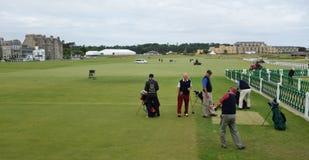 Competencia en St Andrews Golf Course, Escocia Foto de archivo libre de regalías