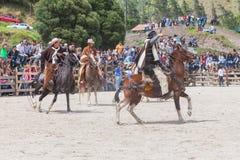 Competencia latina del vaquero Imagen de archivo libre de regalías