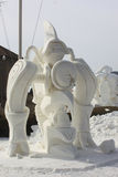Competencia nacional de la escultura de nieve - el lago Lemán, WI Foto de archivo libre de regalías