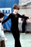 Competencia patinadora Imagen de archivo