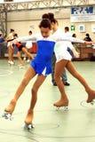 Competencia patinadora Fotos de archivo libres de regalías
