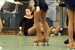 Competencia patinadora Foto de archivo