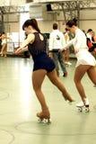 Competencia patinadora Imagen de archivo libre de regalías