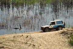 Competencias del ensayo del jeep Fotos de archivo