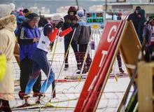 Competencias del esquí de fondo Imagen de archivo