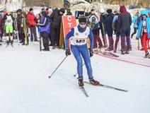 Competencias del esquí de fondo Fotografía de archivo
