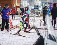 Competencias del esquí de fondo Foto de archivo libre de regalías