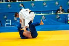 Competencias del judo Foto de archivo libre de regalías