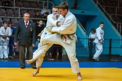 Competencias del judo entre los muchachos, Orenburg, Rusia Fotografía de archivo libre de regalías