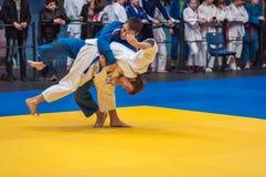 Competencias del judo entre los muchachos, Orenburg, Rusia Foto de archivo libre de regalías