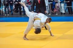 Competencias del judo entre muchachos Fotografía de archivo