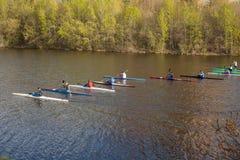 Competencias del rowing Fotos de archivo libres de regalías