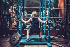 Competencias femeninas del levantamiento de pesas Fotografía de archivo libre de regalías
