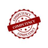 Competency stamp illustration. Competency red stamp seal illustration design Royalty Free Stock Photos