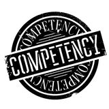 Competency rubber stamp Royalty Free Stock Images