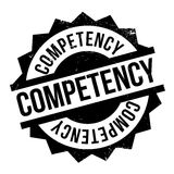 Competency rubber stamp. Competency stamp. Grunge design with dust scratches. Effects can be easily removed for a clean, crisp look. Color is easily changed Royalty Free Stock Image