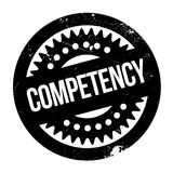 Competency rubber stamp Stock Photo
