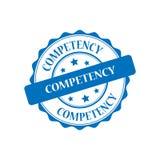 Competency stamp illustration. Competency blue stamp seal illustration design Stock Photos