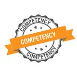 Competency stamp illustration. Competency stamp seal illustration design Stock Photography